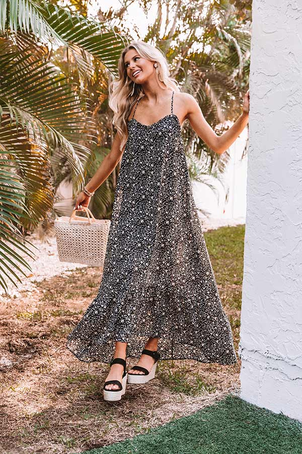 Slip Into Floral Maxi Dress