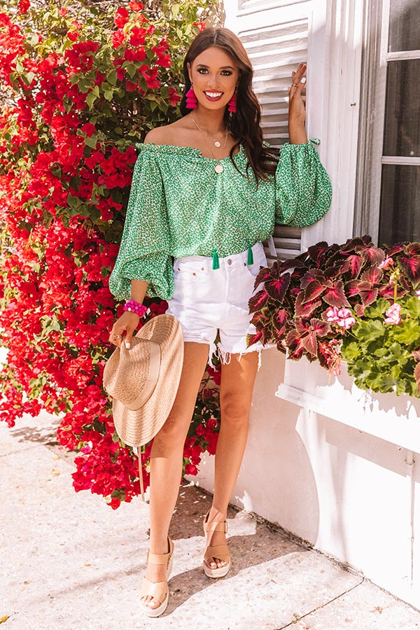 Passion Tea Off Shoulder Shift Top