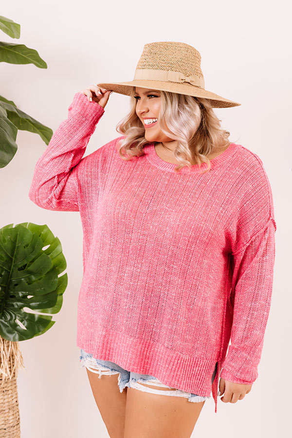 Trip To Flagstaff Knit Sweater in Pink