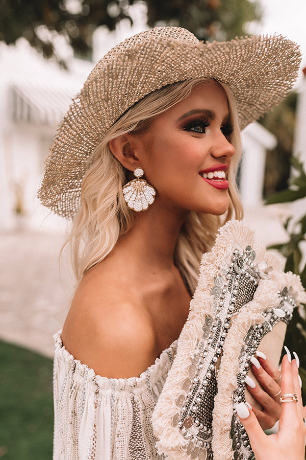 Spotted In Palm Beach Earrings In White