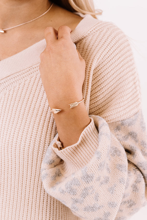 Zoey Cuff Bracelet in Rose Gold