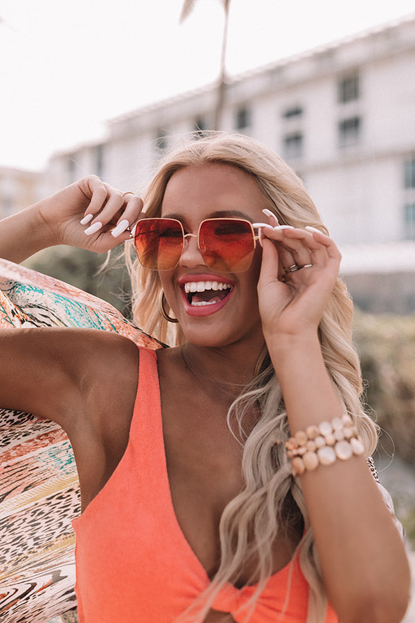 Baja Bombshell Sunnies In Orange