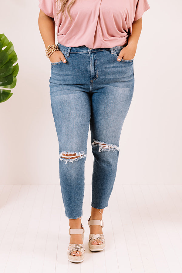 The Gail High Waist Distressed Relaxed Skinny
