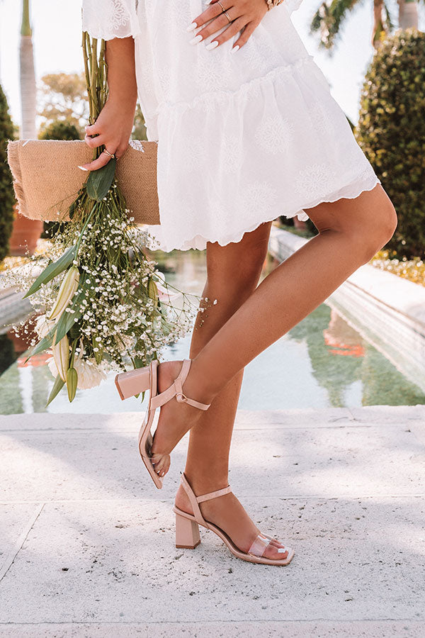 The Poppy Block Heel in Natural