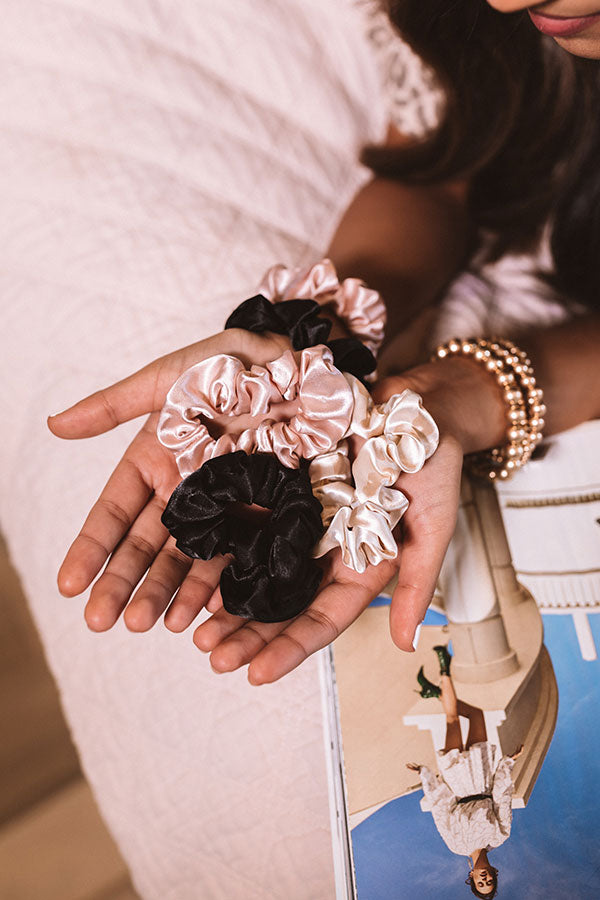 Satin Sleep Scrunchies in Assorted Colors