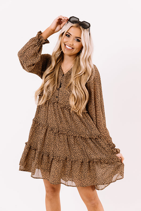 Sweeten The Deal Shift Dress In Mocha