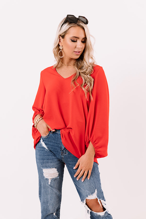 The Best Of Times Shift Top in Scarlet