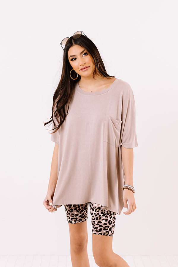 Fond Of Forever Shift Tee In Taupe