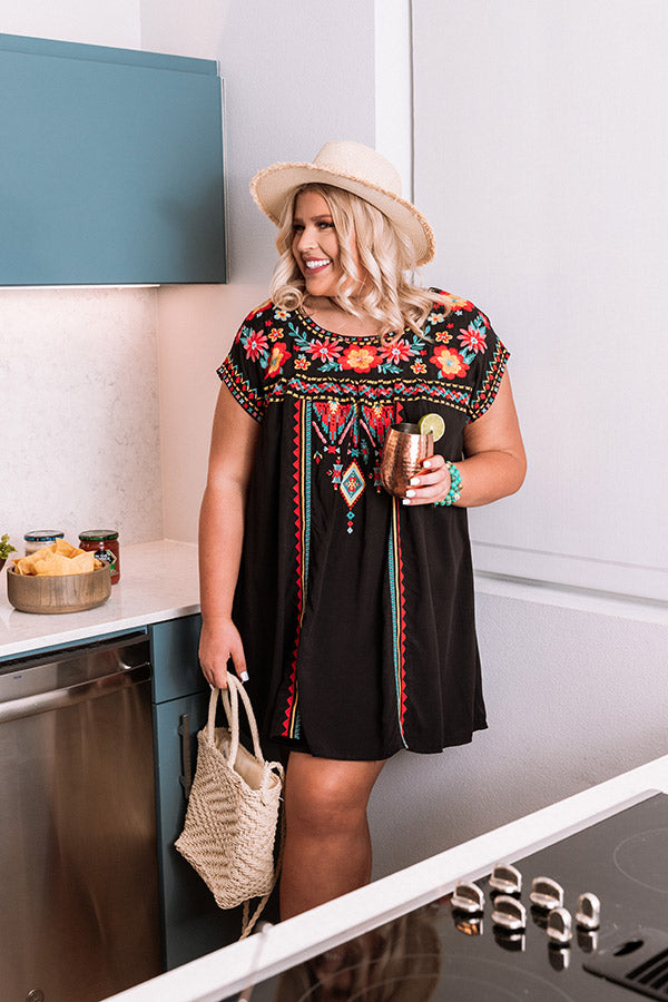 Coastal Service Embroidered Dress