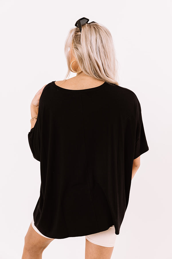 Fond Of Forever Shift Tee In Black