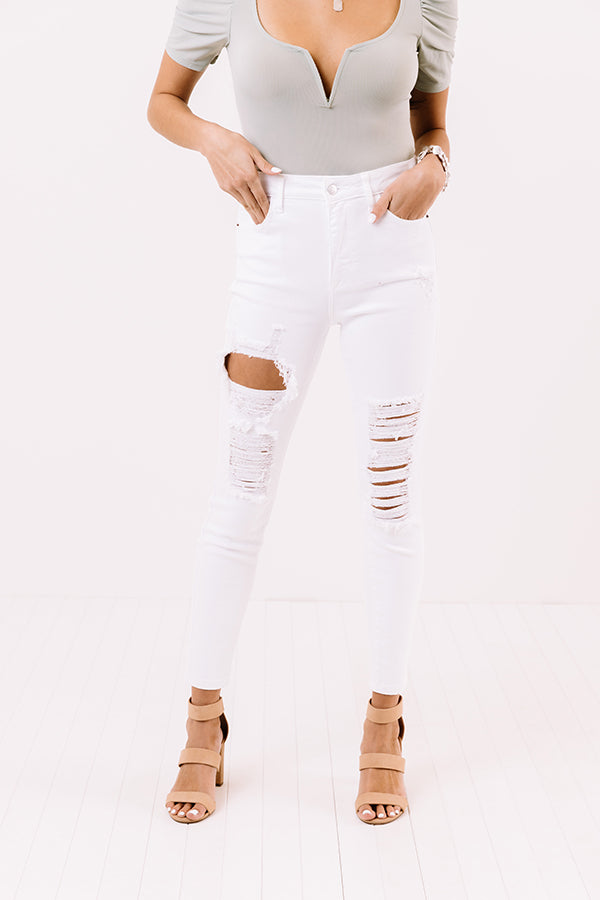 The Nyma High Waist Distressed Skinny