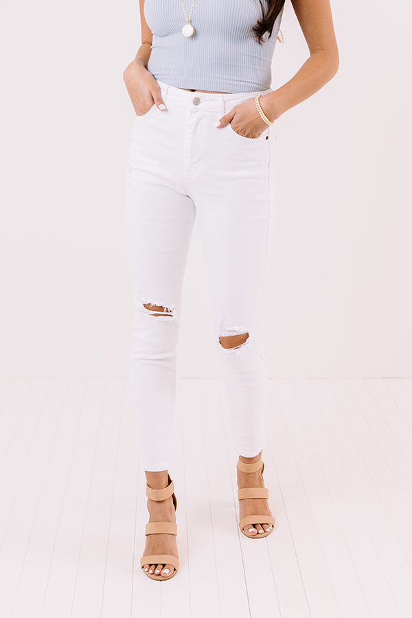 The Pennie High Waist Distressed Skinny