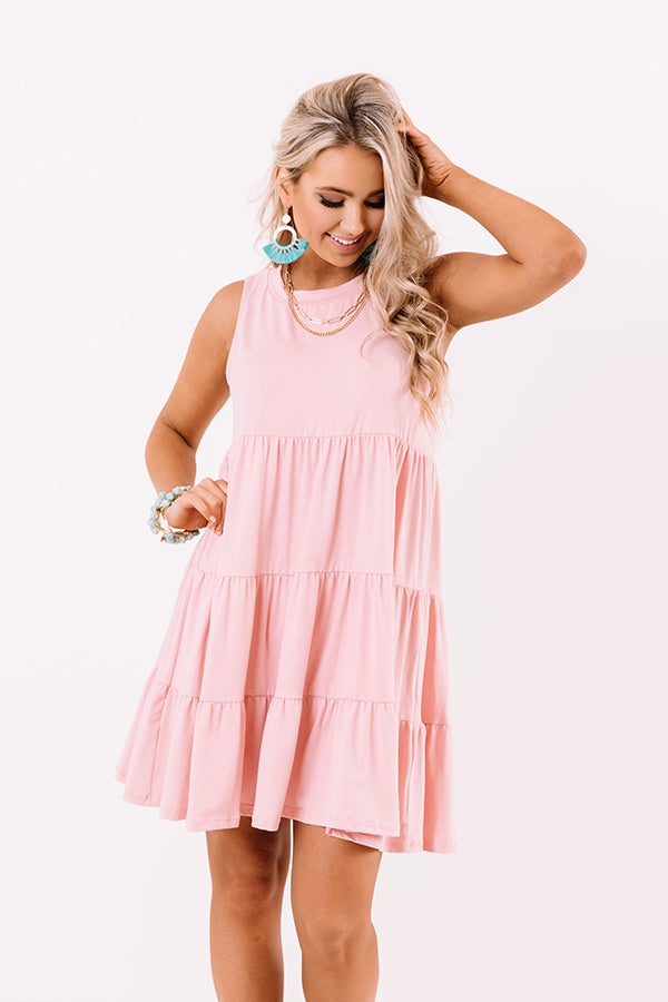 Apple Spiced Wishes Babydoll Dress In Pink