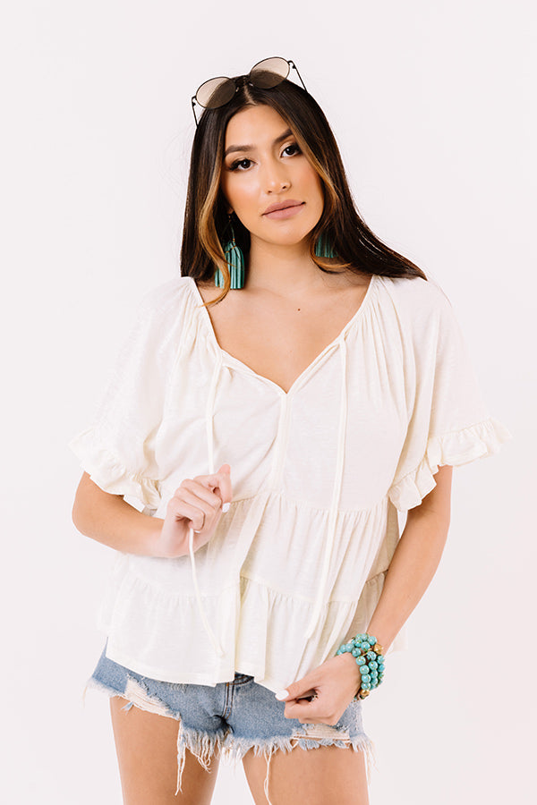 Endless Daydreams Babydoll Top In Cream