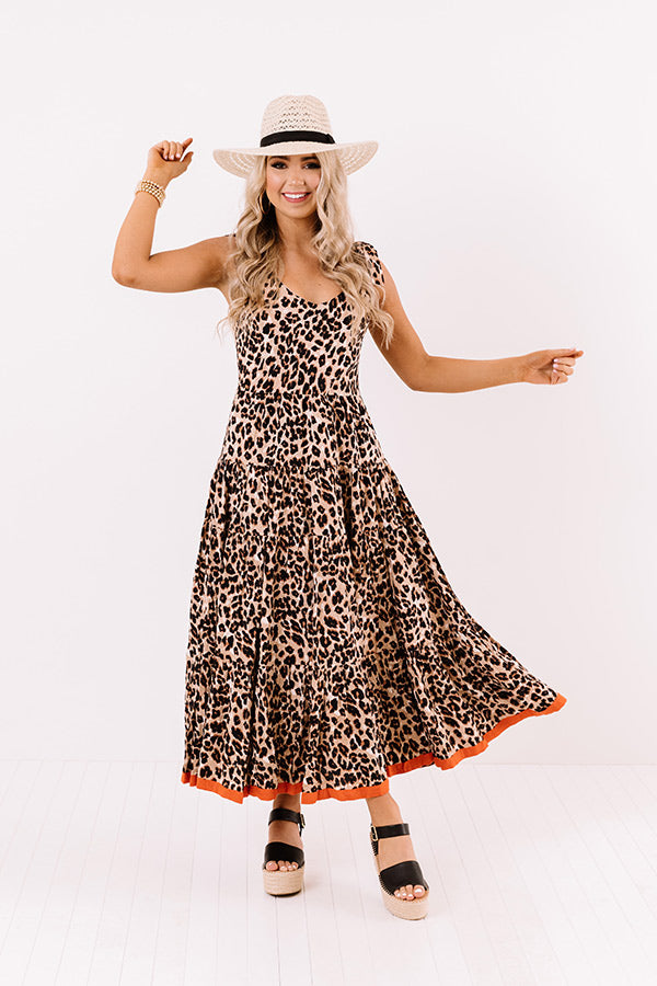 Lovely Lady Leopard Maxi Dress