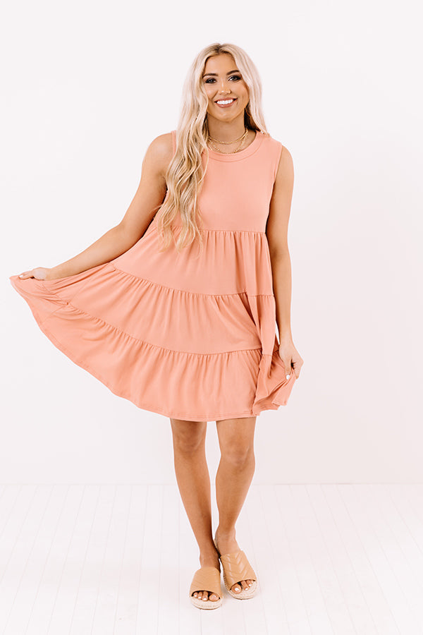 Apple Spiced Wishes Babydoll Dress In Peach