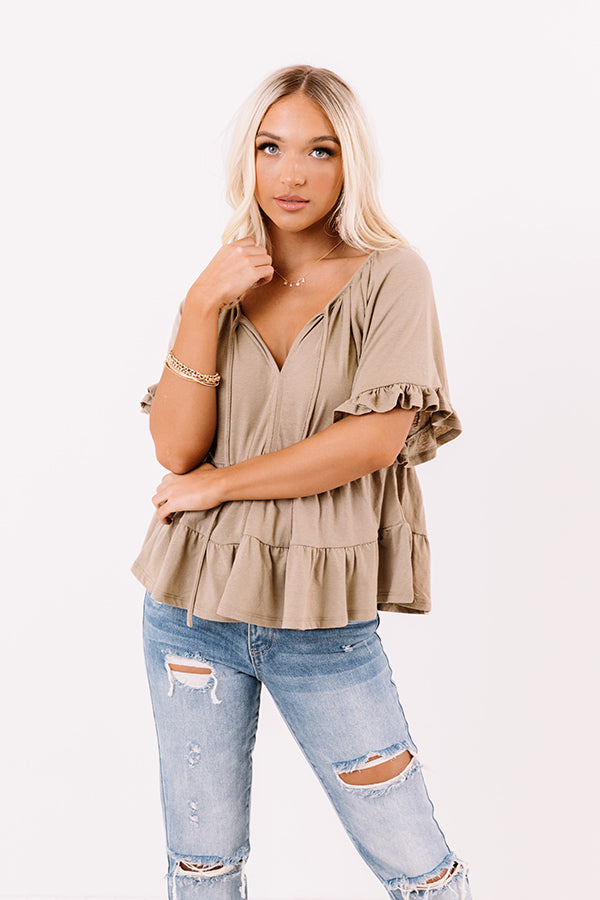 Endless Daydreams Babydoll Top In Sage