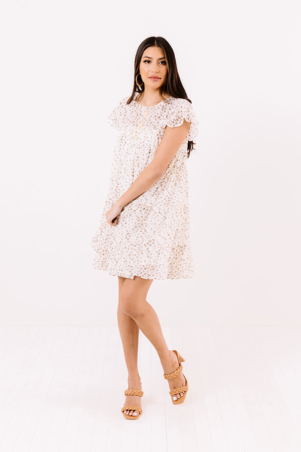 Locked Gaze Leopard Shift Dress