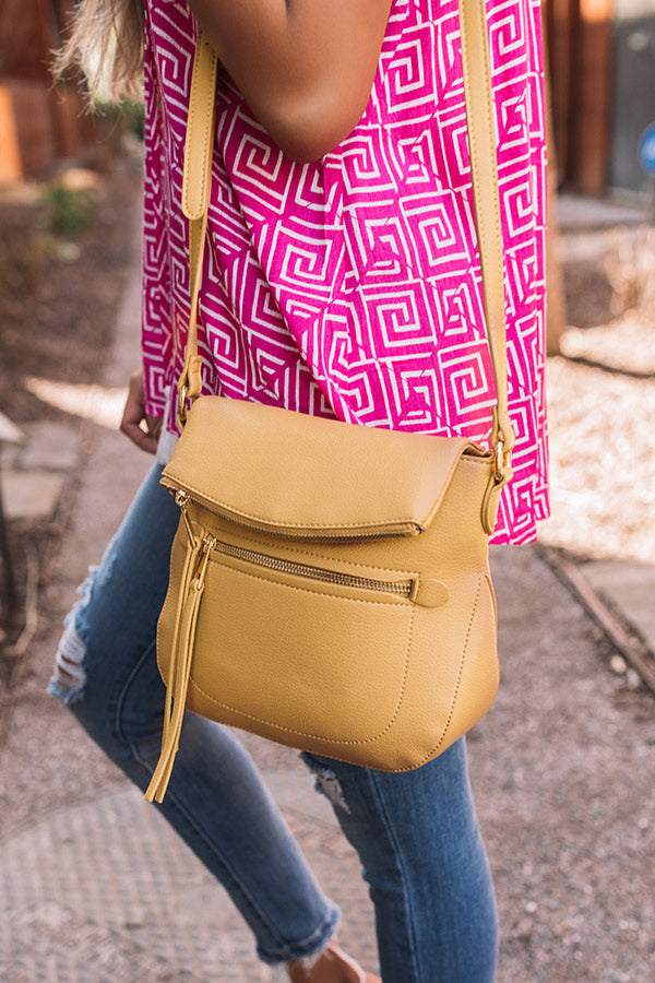 Just For You Crossbody In Marigold