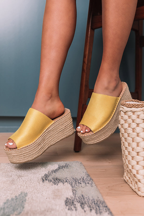The Cameron Espadrille In Yellow