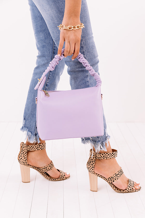 All Time Favorite Faux Leather Tote In Lavender
