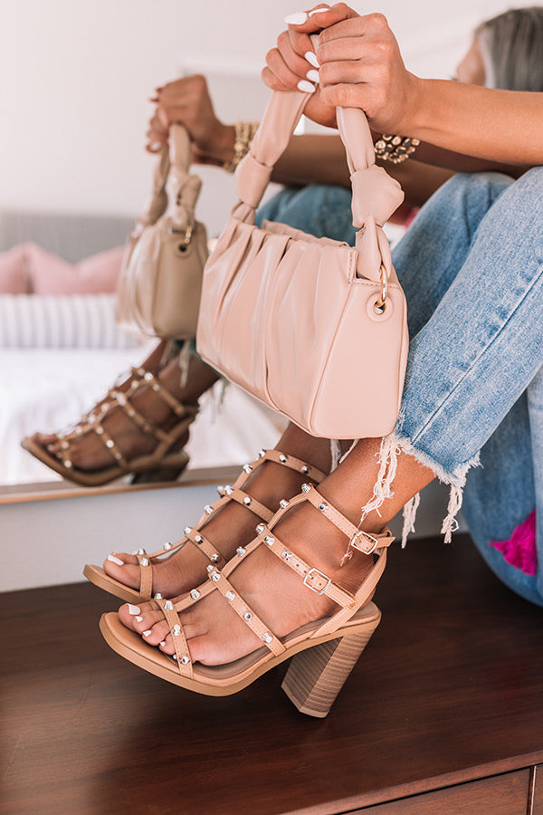 The Soren Studded Heel In Tan