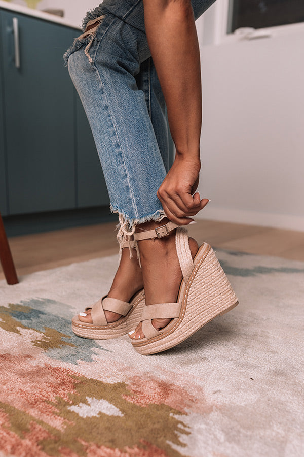The Syra Espadrille Wedge In Birch