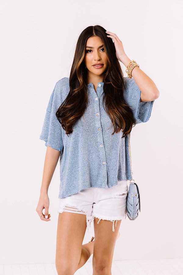 Coastal Charm Shift Top