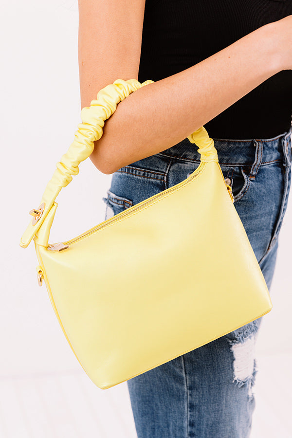 All Time Favorite Faux Leather Tote In Yellow