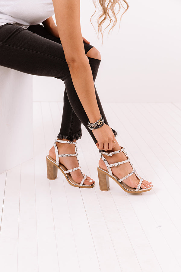 The Soren Studded Heel In White