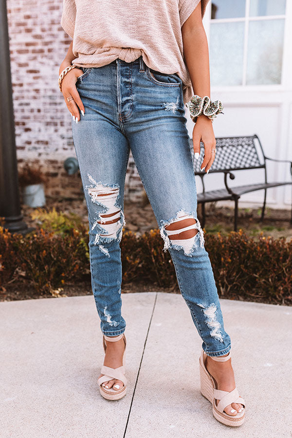 The Taye High Waist Distressed Skinny