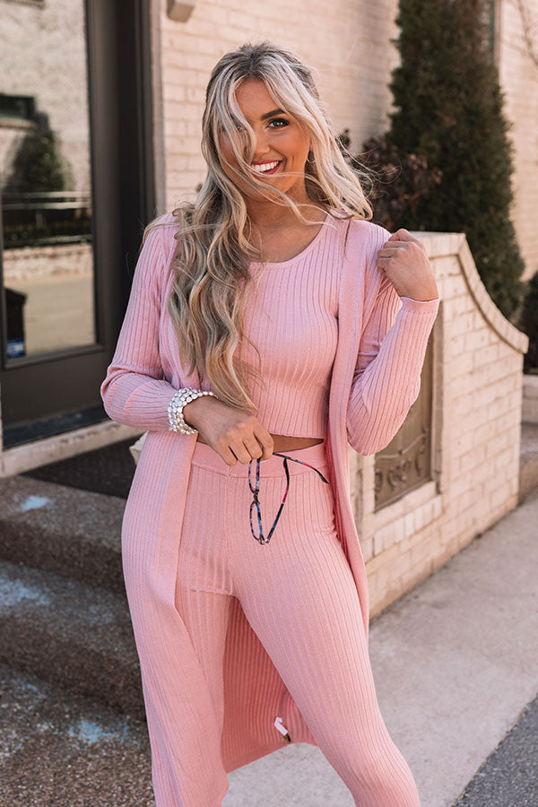 You Glow Girl Ribbed Top In Pink