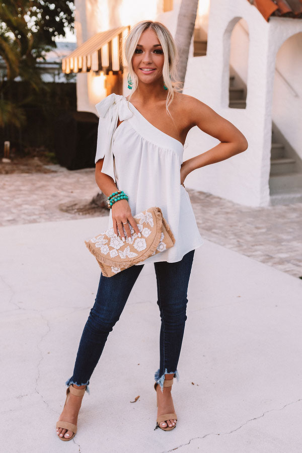 Flirty At Heart Shift Top In White