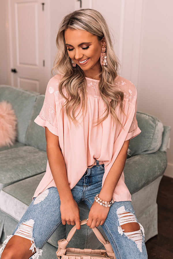 Halo On Top Shift Top In Pink
