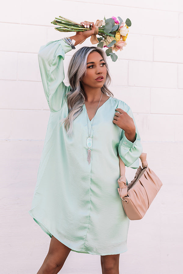 Diamonds Only Shift Dress In Mint