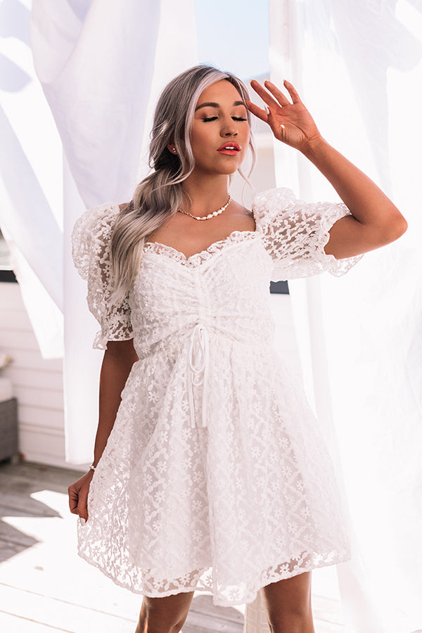 Bubbly Beauty Eyelet Babydoll Dress