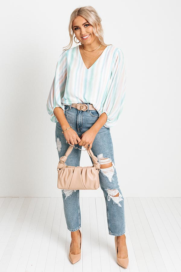 Charming Intuition Watercolor Shift Top