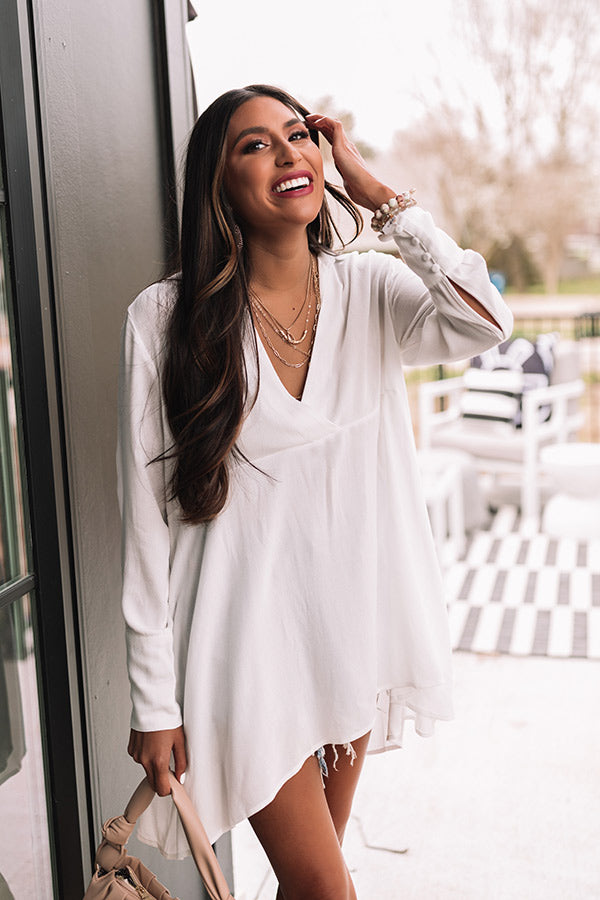 Biggest Blessing Shift Tunic In White