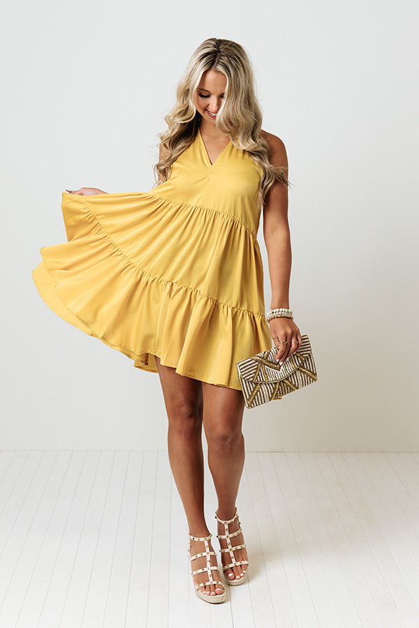 Friendly Advice Shift Dress In Golden Honey