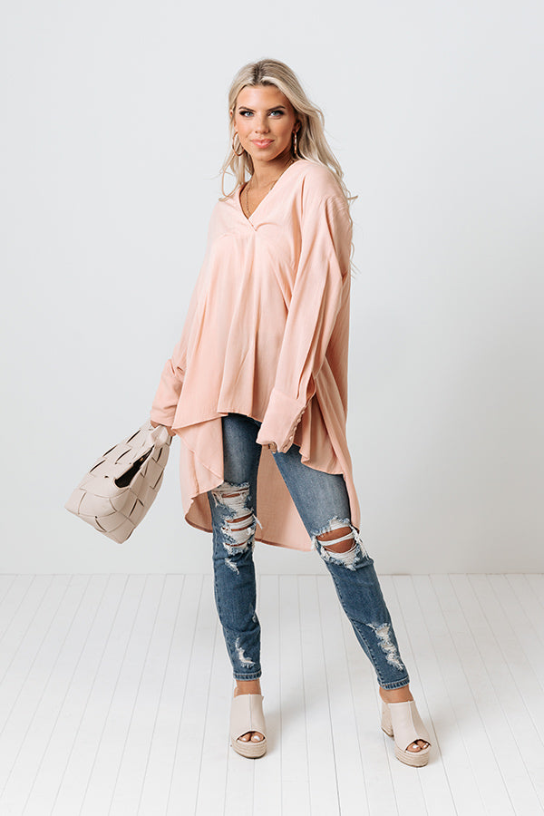 Biggest Blessing Shift Tunic In Peach