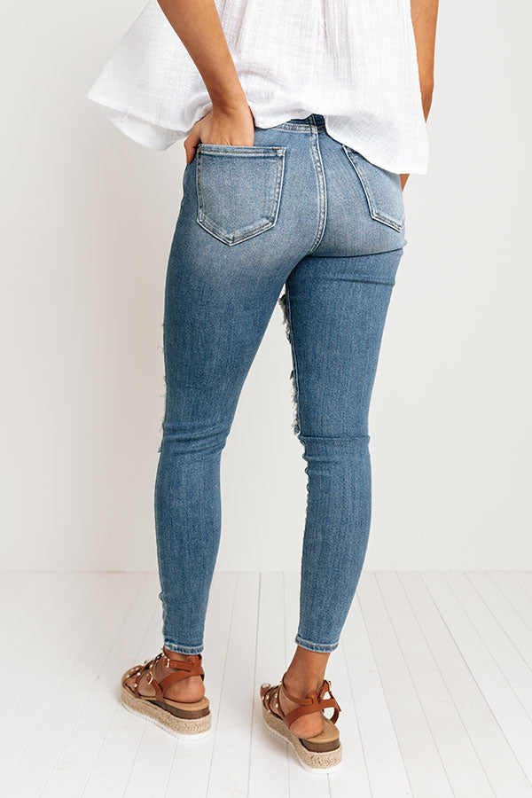 The Coy High Waist Distressed Skinny