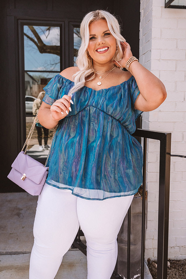 Whimsical Days Shimmer Babydoll Top