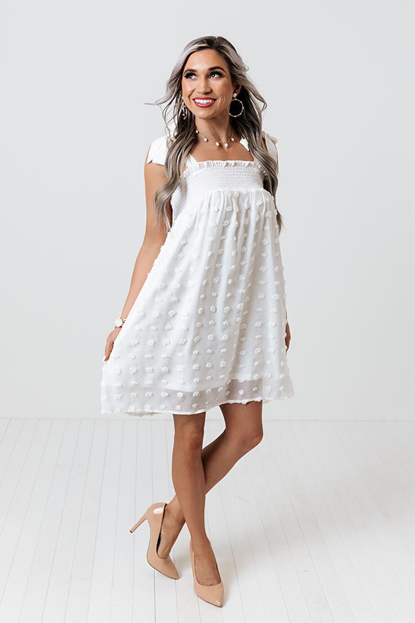 Hollywood Affair Shift Dress in White