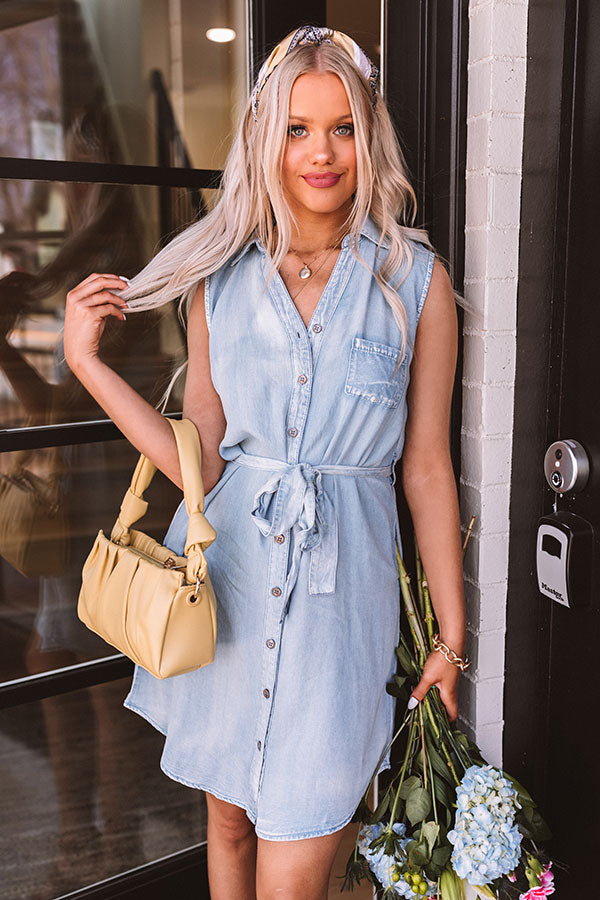Know And Tell Chambray Dress