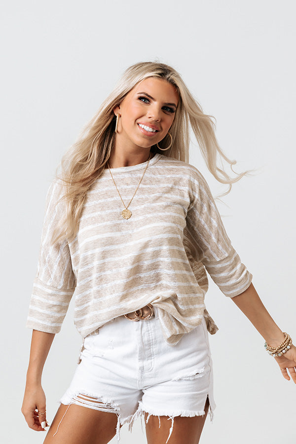 Yacht Club Stripe Knit Top