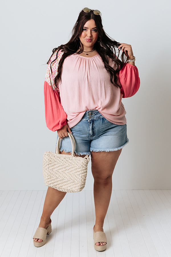 Perfectly Chic Shift Top in Pink