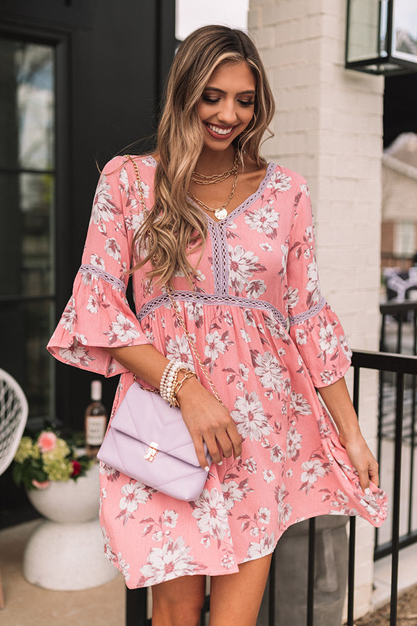 Captivated By Grace Floral Babydoll Dress