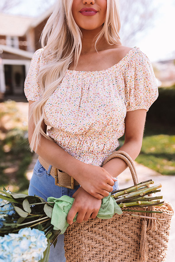 On The Haute Spot Floral Crop Top