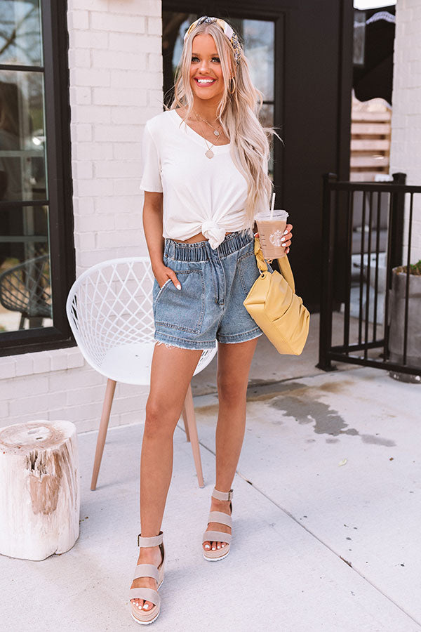 The Oriana High Waist Denim Shorts