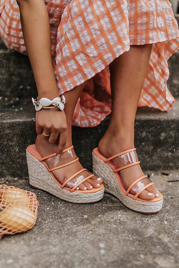 The Raela Wedge In Peach